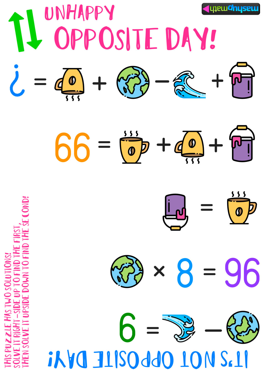 hight resolution of Do Not Celebrate Opposite Day with These Boring Math Puzzles — Mashup Math