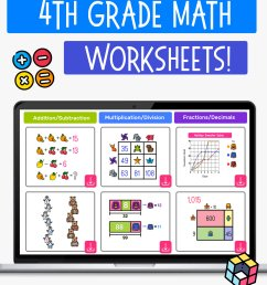 100 Free 4th Grade Math Worksheets with Answers — Mashup Math [ 1500 x 1000 Pixel ]