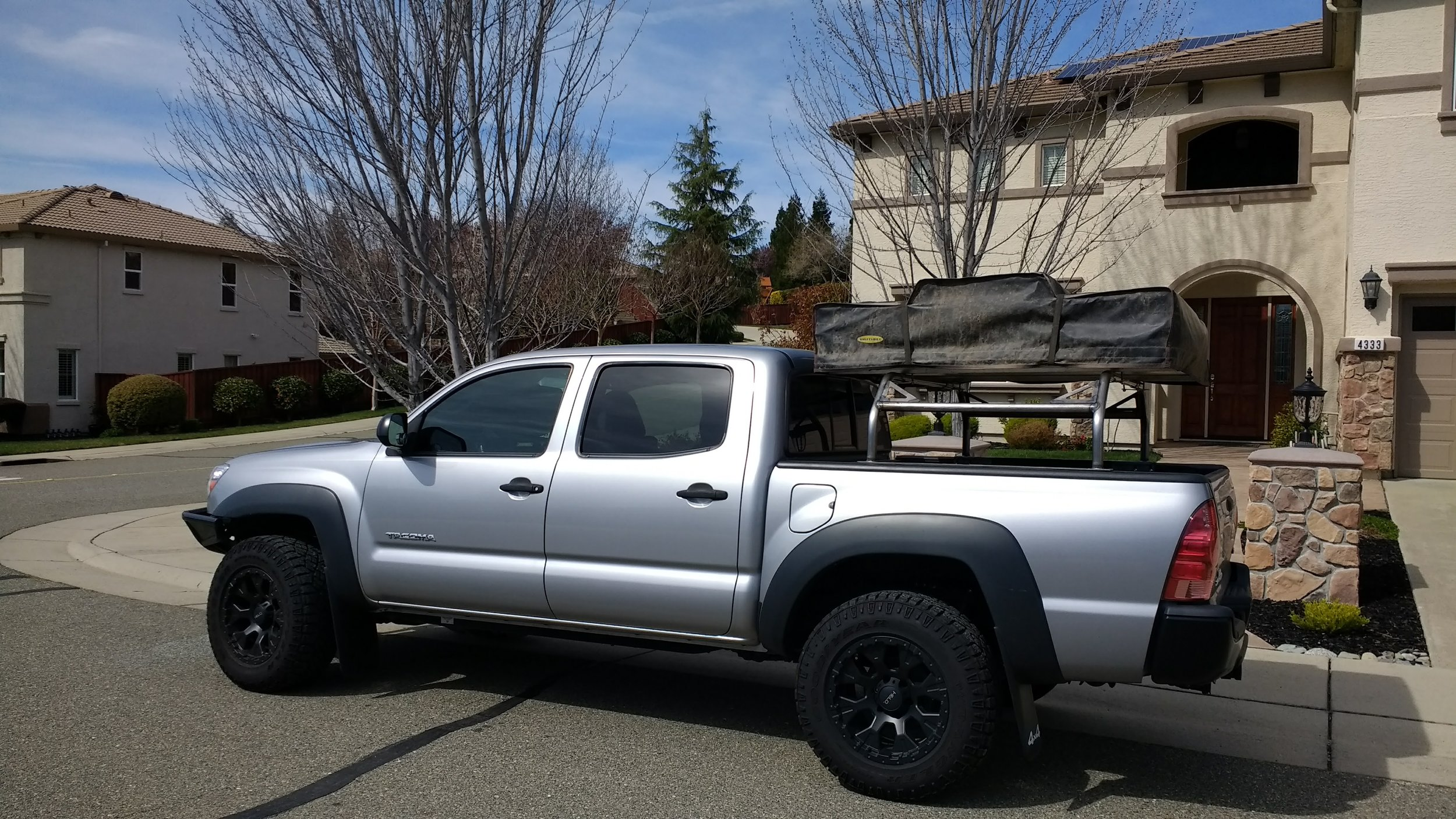 hot metal fab full length over the bed rack holds any rooftop tent fits large trucks hot metal fabrication