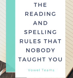 Vowel Teams - The Reading \u0026 Spelling Rules That Nobody Taught You   SMARTER  Intervention [ 1102 x 735 Pixel ]