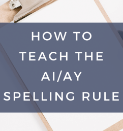 How to Teach the ai/ay Spelling Rule   SMARTER Intervention [ 1102 x 735 Pixel ]