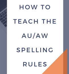 How to Teach the au/aw Spelling Rule   SMARTER Intervention [ 1102 x 735 Pixel ]