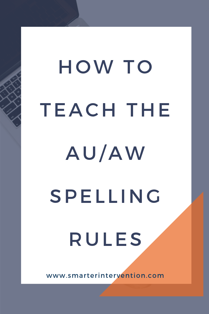 medium resolution of How to Teach the au/aw Spelling Rule   SMARTER Intervention
