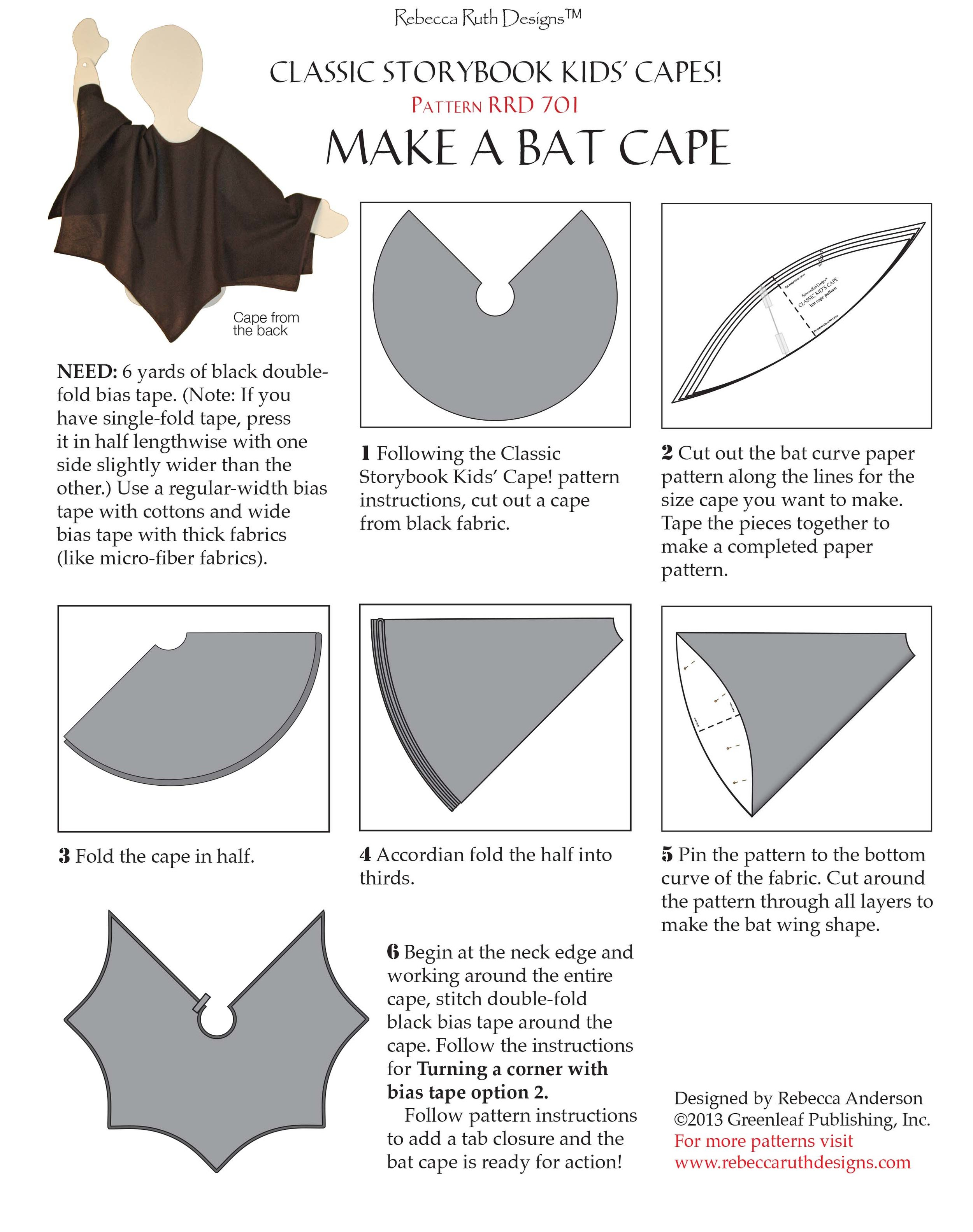 Wizard Cloak Pattern : wizard, cloak, pattern, Kids', Capes!, Rebecca, Designs