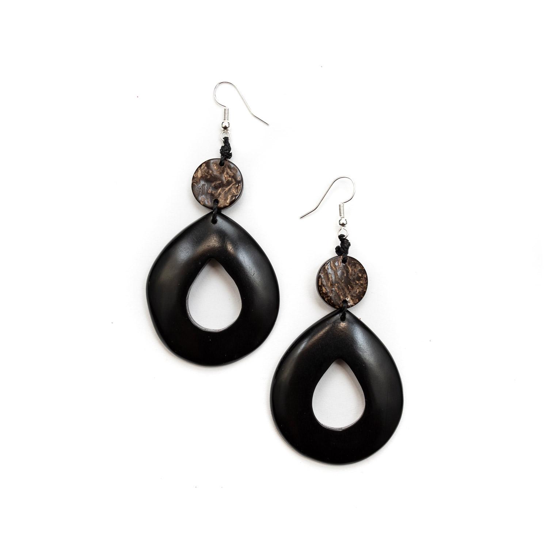 Pena Earrings by La Tagua Ecuador