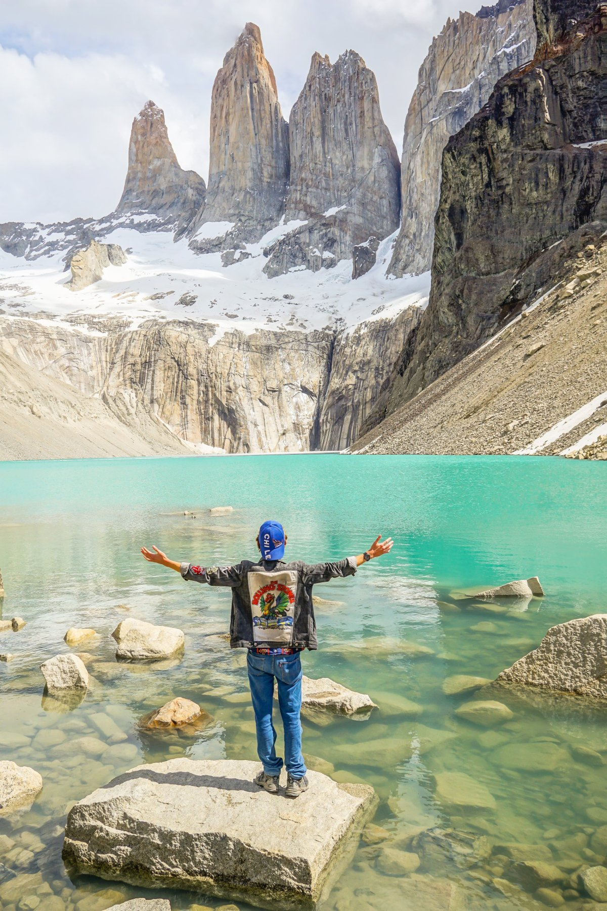 Reaching my destination at Torres del Paine National Park, Patagonia in Southern Chile!
