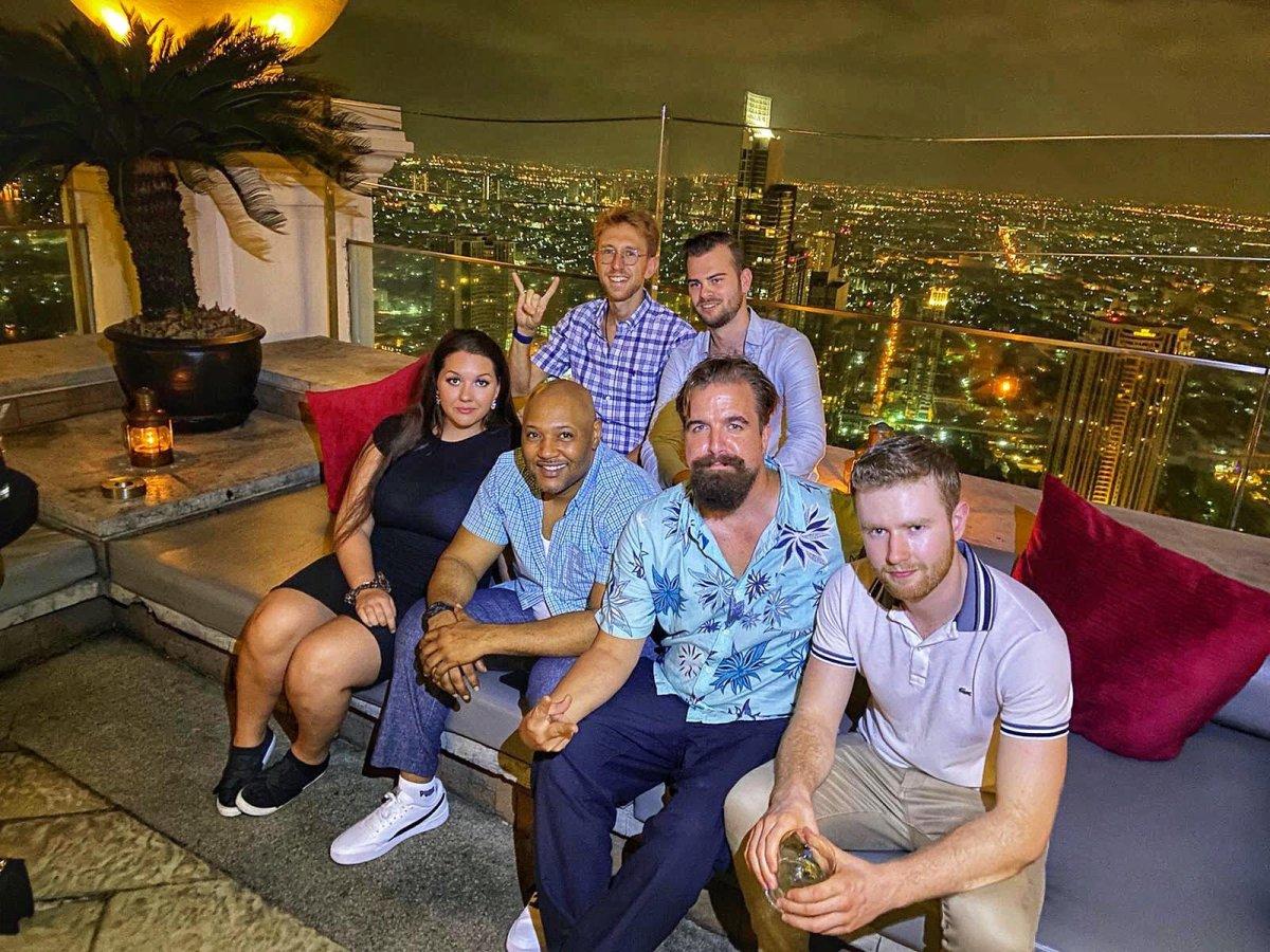 Incredible panoramic views from the 65th floor of Skybar in Bangkok, Thailand.