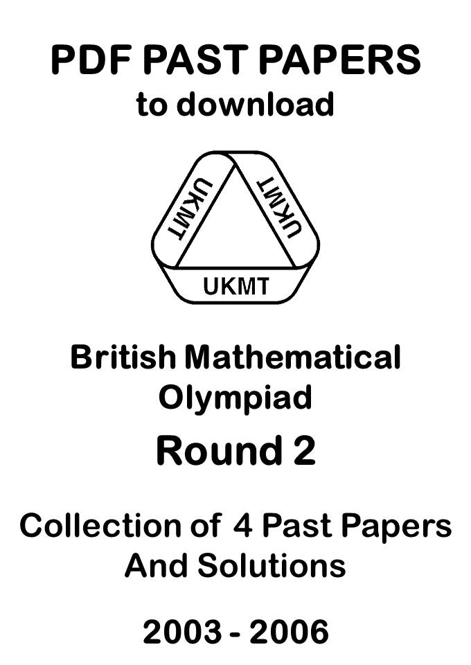 British Mathematical Olympiad Round 2 Past Papers 2003
