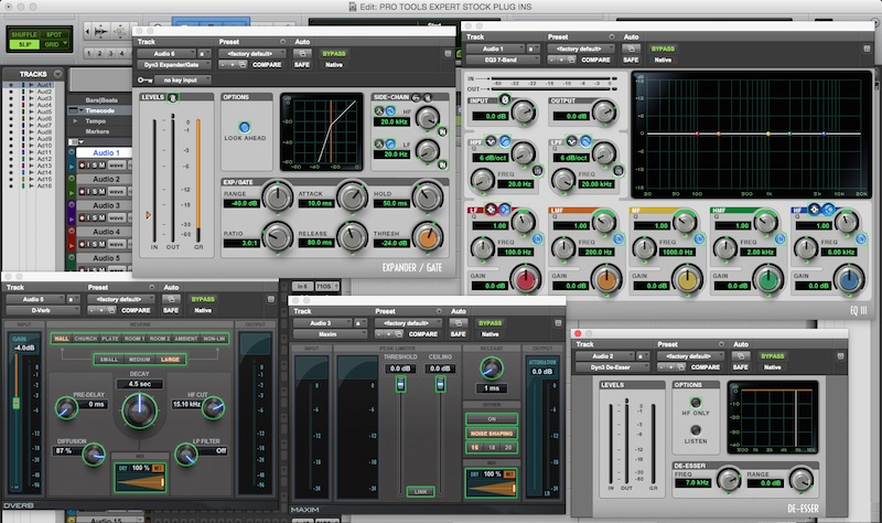 Pro Tools - My Most Used Stock Plugins - A Post Production Perspective   Pro Tools