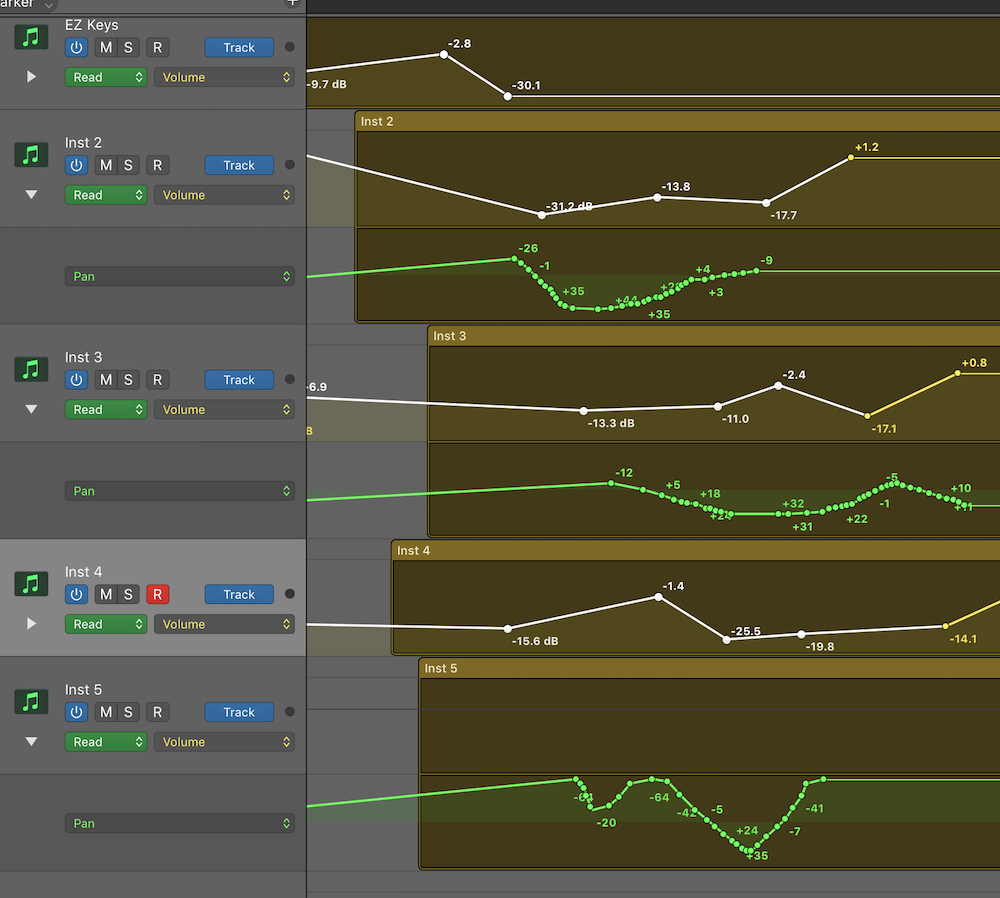 hight resolution of automation selection logic pro x 02 multiple types of automation