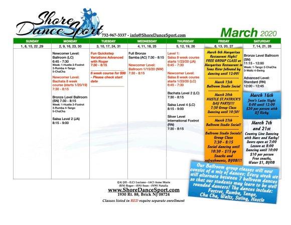 Calendar — Shore DanceSport