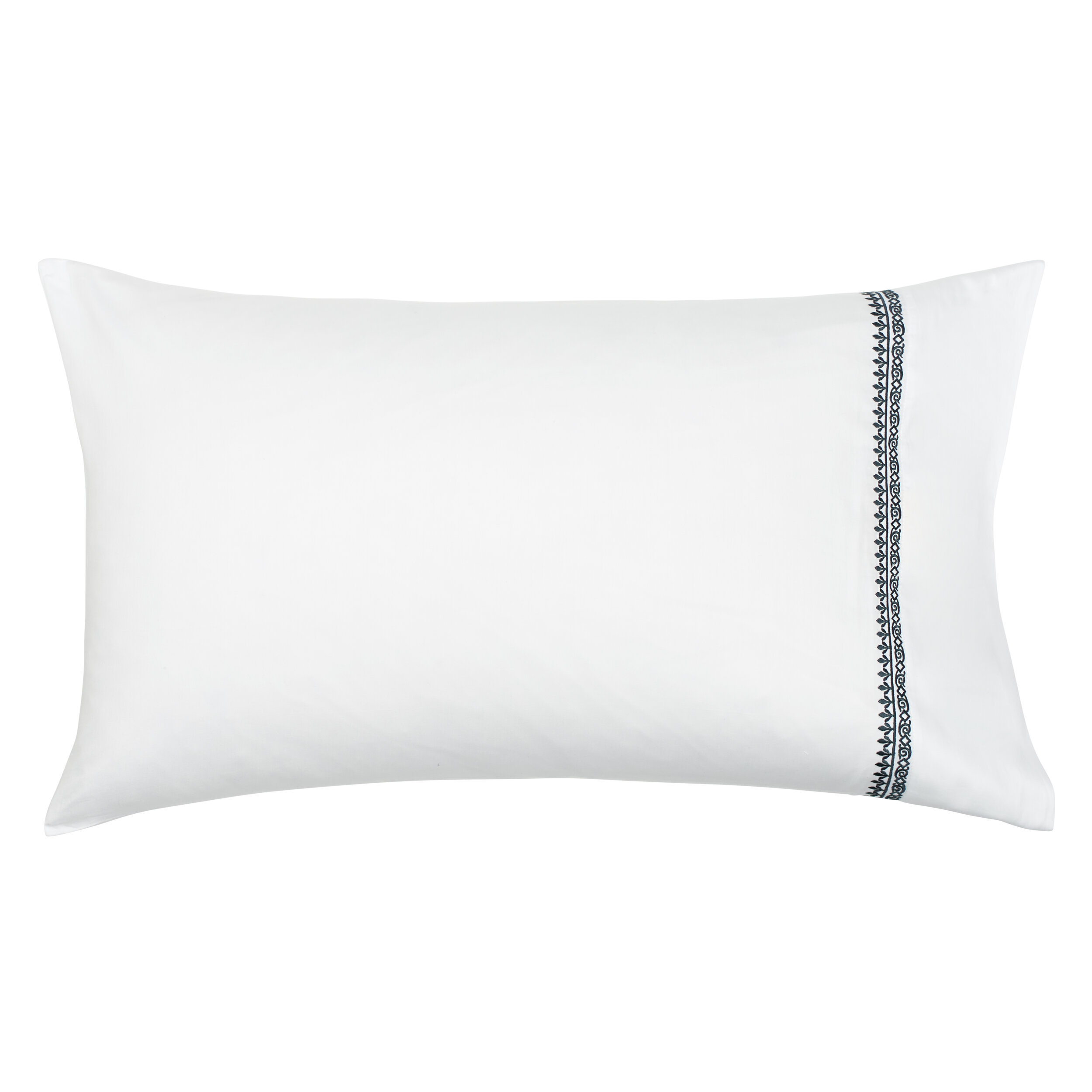navy henna set of 2 embroidered pillowcases county road