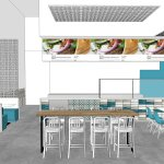 In Progress Papa Greek Restaurant Interior Designer Kurtz Design