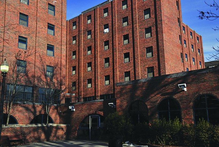 UConn's Buckey Residence Hall. One of the building's elevators shut down on freshmen move-in day, leaving five students stuck for 15 minutes. (File Photo/The Daily Campus)