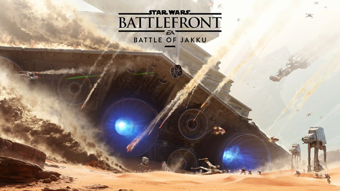 """A first glimpse of The Battle of Jakku, a scene from the """"Star Wars: Battlefront""""video game coming out in late-November 2015.(Courtesy/Electronic Arts)"""