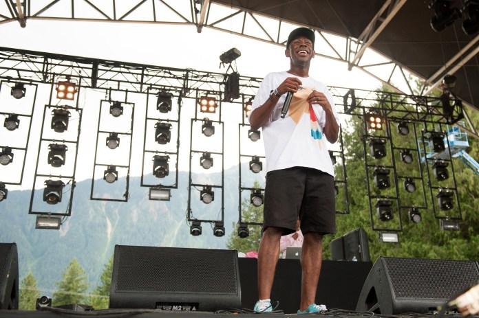 Tyler, The Creator performs at the Pemberton Music Fesitval in Pemberton, British Columbia, Canada on July 18, 2014. (Pemberton Music Festival/Flickr)