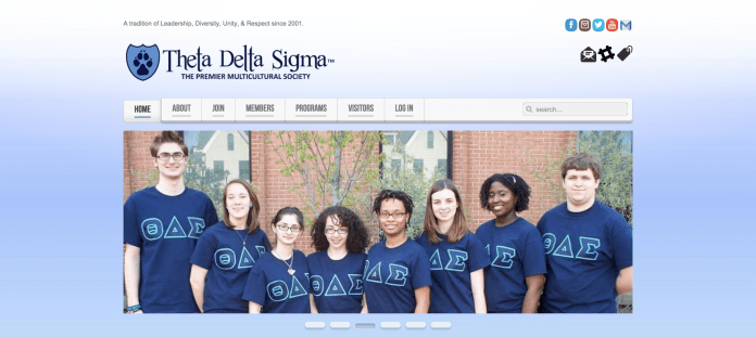 In this photo, a screenshot of the Theta Delta Sigma website is pictured. The organization will be the first co-ed multicultural fraternity on campus. (Screenshot/Theta Delta Sigma)