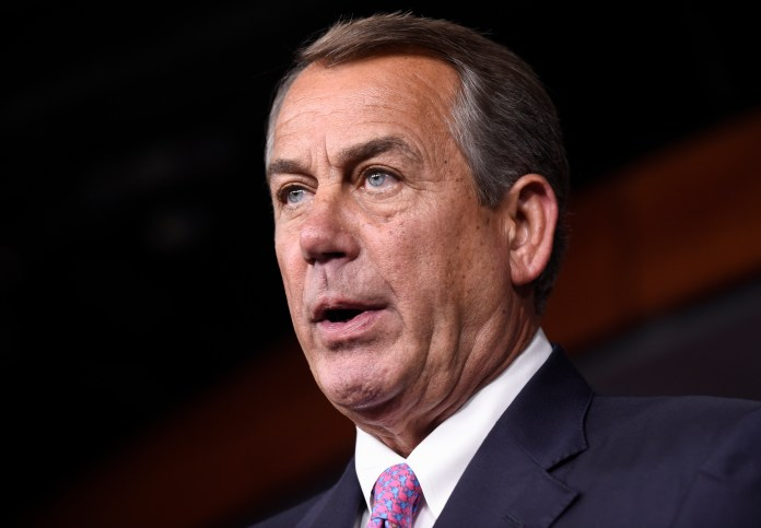 In this July 29, 2015 file photo, House Speaker John Boehner of Ohio speaks during a news conference on Capitol Hill in Washington. (Susan Walsh/AP)
