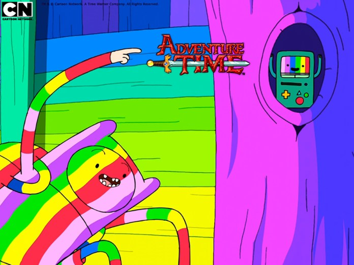 """""""Adventure Time,"""" which airs on Cartoon Network, is a children's show and takes on a Spongebob-like role for the network. (Courtesy/Cartoon Network)"""