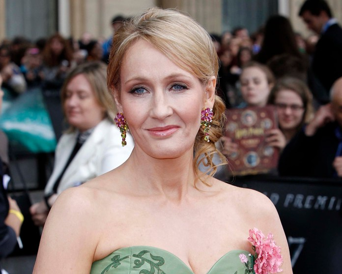 """In this July 7, 2011 file photo, British author  JK  Rowling arrives in Trafalgar Square, in central London, for the World Premiere of """"Harry Potter and The Deathly Hallows: Part 2,"""" the last film in the series.   (AP)"""