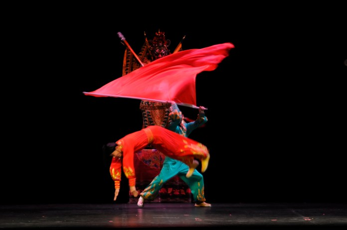 """Members of the National Circus and Acrobats of the People's Republic of China are seen performing during """"Peking Dreams"""" at the Jorgensen Center for the Performing Arts in Storrs, Connecticut on Saturday, Nov. 7, 2015. (Rebecca Newman/The Daily Campus)"""