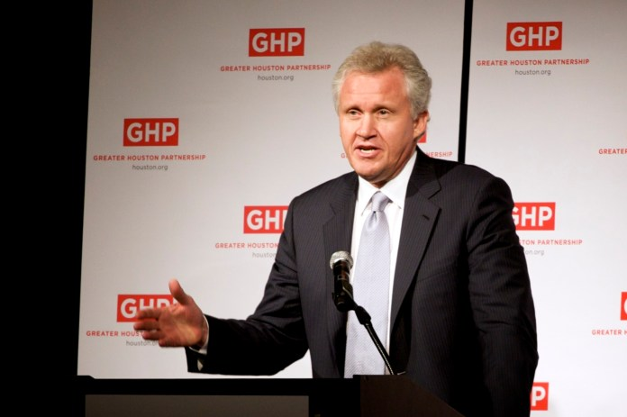 """General Electric chairman Jeffrey Immelt.Immelt sent an internal memo regarding the corporation's search for a new location, as, in his words, GE requires """"a more pro-business environment."""" (eschipul/Flickr)"""