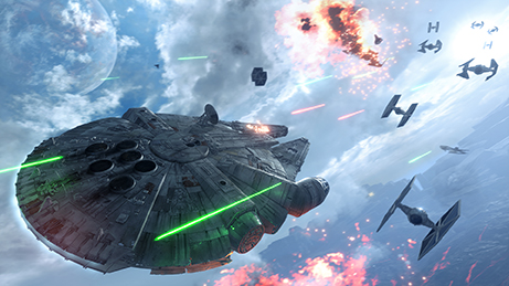 """This photo provided by Electronic Arts shows a scene from the video game, """"Star Wars: Battlefront."""" (Electronic Arts via AP)"""