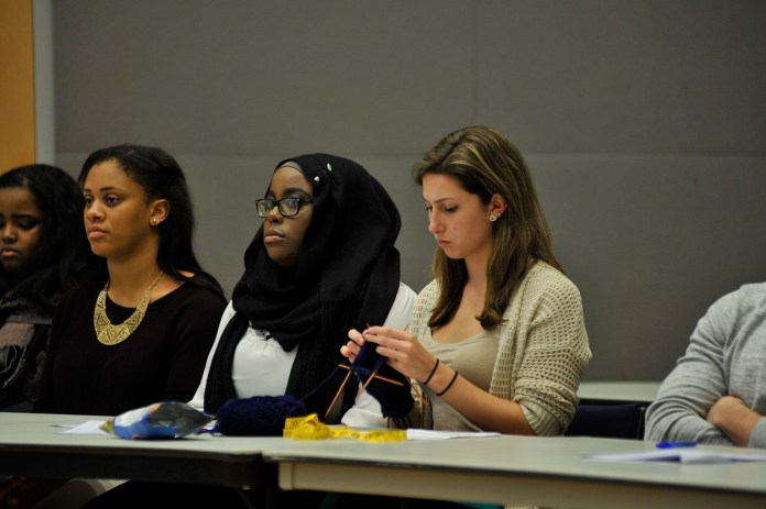 Undergraduate Student Government voiced concerns for two large communication issues between senators and Senate leadership during its mid-year evaluation its caucus in the UConn Student Union on Wednesday, Dec. 2, 2015. (Jason Jiang/The Daily Campus)