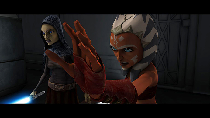 """Ahsoka Tano faces a deadly threat in the form of mind-controlled clones in """"Brain Invaders,"""" an all-new episode of STAR WARS: THE CLONE WARS. (Jason Jones/Flickr)"""