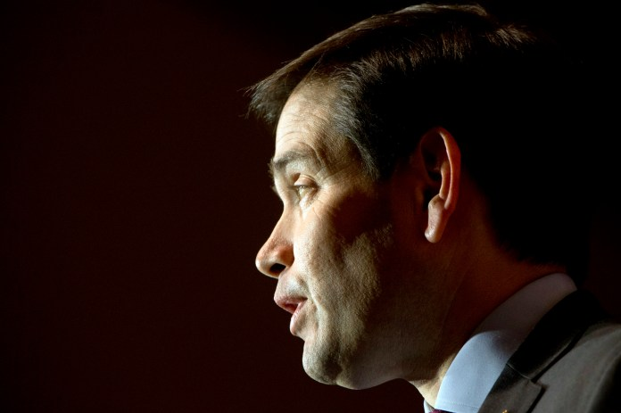 Republican presidential candidate Sen. Marco Rubio, R-Fla., speaks during a town hall meeting at Southside Christian School in Simpsonville, S.C., Thursday Feb. 11, 2016. (AP Photo/Jacquelyn Martin)
