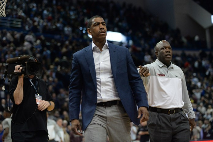 It seems like a long time ago that Ollie led UConn to a National Championship in his first year as a head coach eligible for the NCAA tournament. Since then, UConn's record is 39-23 and 19-13 in conference play - not exactly awe inspiring. (Ashley Maher/The Daily Campus)