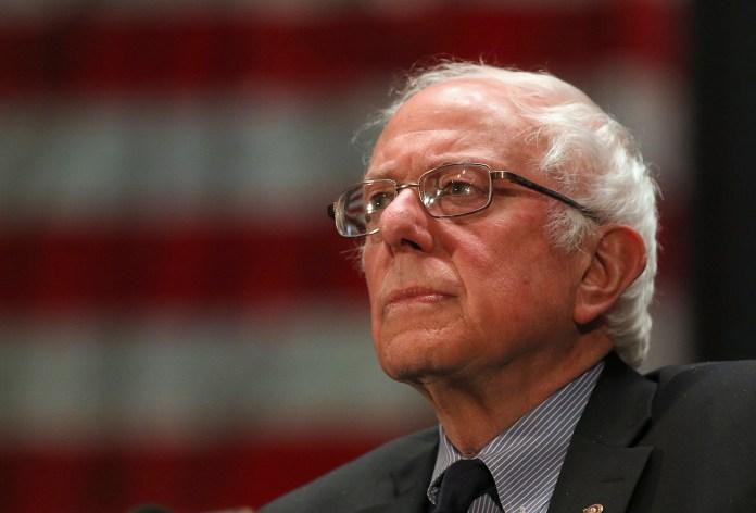 Democratic presidential candidate, Sen. Bernie Sanders, I-Vt., speaks at a campaign stop, Thursday, April 21, 2016, in Scranton, Pa. (Jake Danna Stevens/The Times & Tribune via AP)
