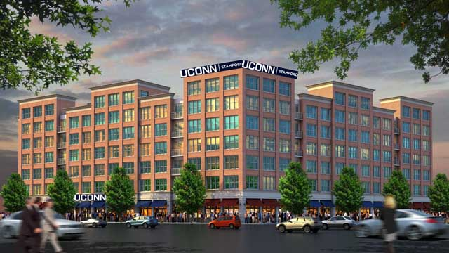 A design of what the future of UConn Stamford housing will look like. (Photo courtesy  UConn Today )