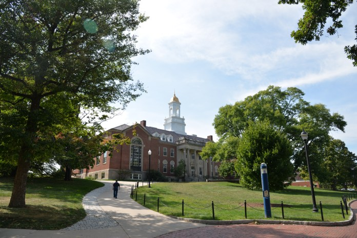 The Wilbur Cross building houses many university offices including the Office of Student Financial Aid Services, the office responsible for working with students who file FAFSA reports. (Amar Batra/The Daily Campus)