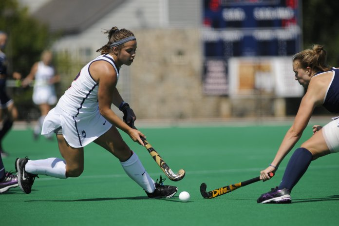 The Huskies defeated the Drexel Dragons 7-2 at the Sherman Family Sports Complex on Sunday, Sept. 4, 2016. (Photo by Jason Jiang/The Daily Campus)