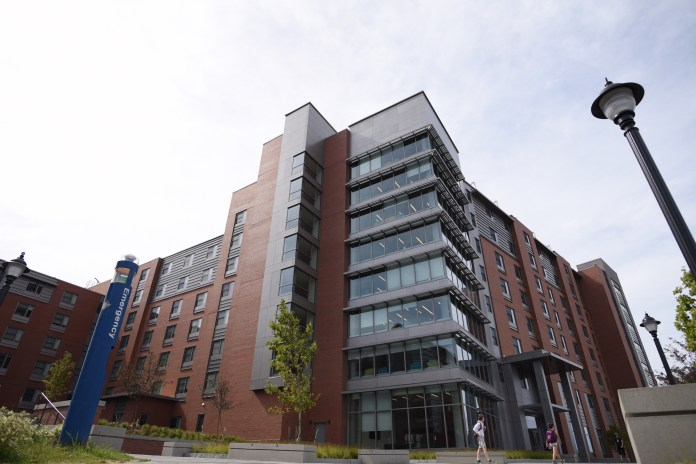 New NextGen residential hall located in the Hilltop area of campus.(Zhelun Lang/Daily Campus)
