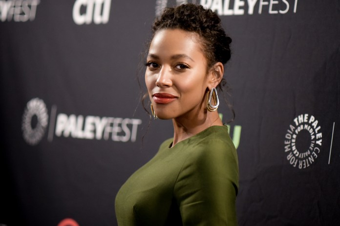 """Kylie Bunbury attends the """"Pitch"""" screening and panel discussion at the 2016 PaleyFest Fall TV Previews on Thursday, Sept. 8, 2016, in Beverly Hills, California.(Richard Shotwell/Invision/AP)"""