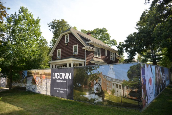 """The """"brown houses,"""" formally known as Faculty Row have been cleared for demolition according to the university. The decision has faced serious push back from local historical societies. (Amar Batra/The Daily Campus)"""