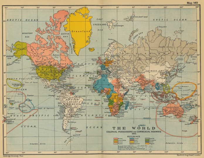 A vintage map of the world. (Patrick Barry/Flickr Creative Commons)