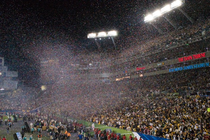 A photo of the Superbowl Sunday stadium in 2009.(Sean Hobson/Creative Commons Flickr)