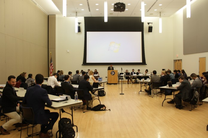 USG holds its biweekly senate meeting in the Student Union on Feb, 22, 2017. (Jordan Richardson/The Daily Campus)