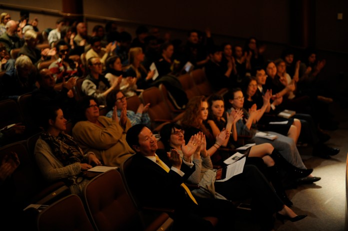The Wallace Stevens Poetry Program held its 54th annual event on Wed., March 8. A. E. Stallings was among the many highly respected poets to share their work. (Jason Jiang/The Daily Campus)