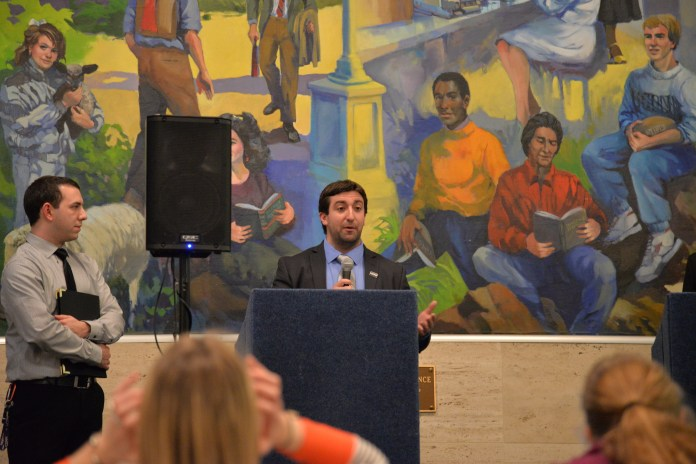 Graduate Student Senate President Anthony Patelunas is the runner up for student-director of the UConn Foundation. If Bachman is unsuccessful in overturning her disqualification, he will become the student-director elect. (Amar Batra/The Daily Campus)