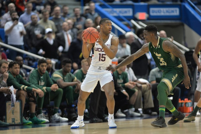 Rodney Purvis scores a career-high 30 points with no turnovers in Thursday night's game vs USF.(Amar Batra/The Daily Campus)