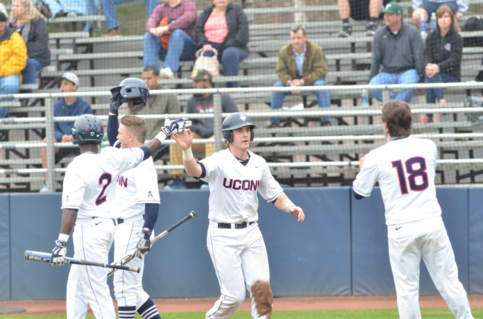 UConn baseball will not return to home play this weekend as anticipated and will instead play a weekend series at Seton Hall. (Jackson Haigis/The Daily Campus)