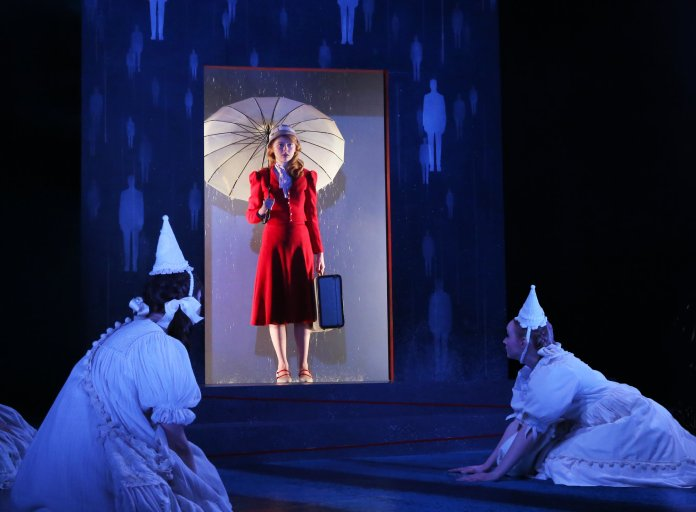 """Sarah Jensen as Eurydice in """"Eurydice"""" by Sarah Ruhl onstage in Connecticut Repertory Theatre's Studio Theatre through April 2, 2017. (Photo courtesy of Gerry Goldstein)"""