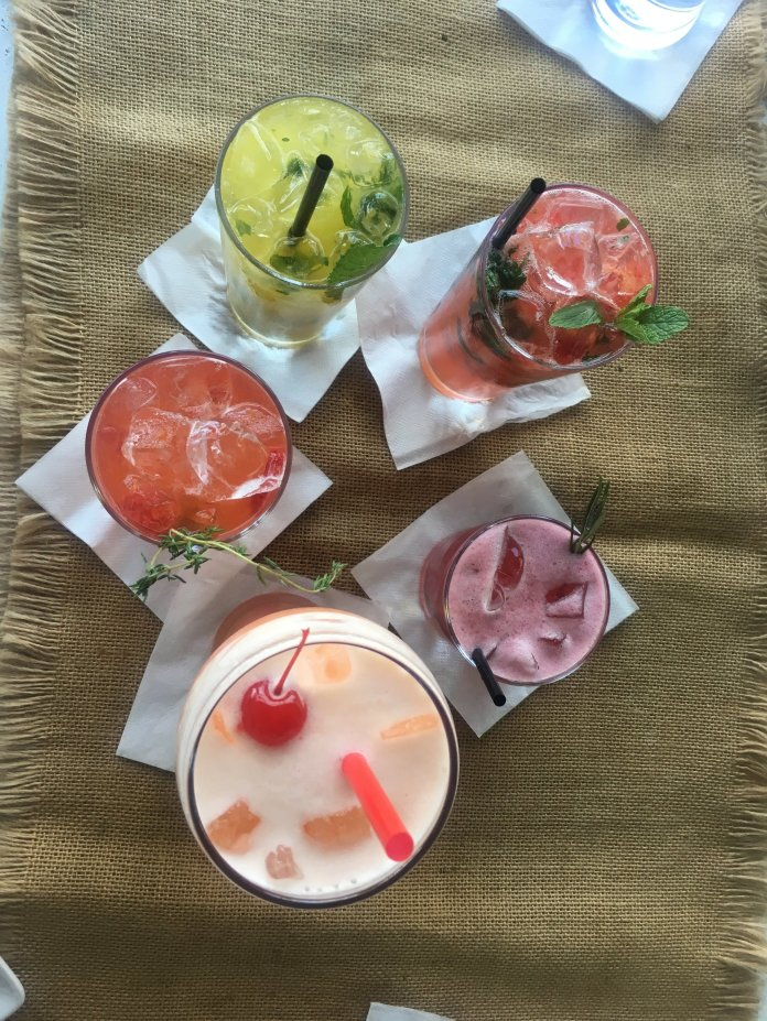 Five specialty mojitos during happy hour at ITO in North Beach, Miami. (Francesca Colturi/The Daily Campus)