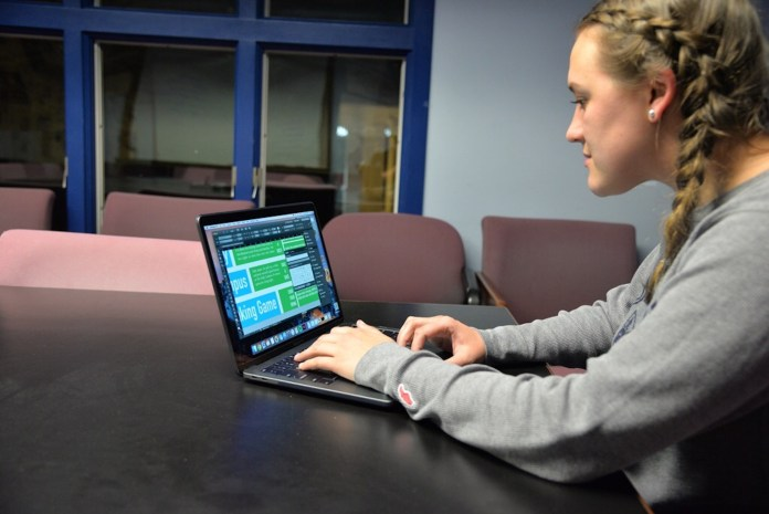 Students at the Daily Campus utilize Adobe programs everyday to design and publish the school's newspaper. Other media organizations, such as UCTV and Nutmeg, depend on Adobe programs as well.(Amar Batra/The Daily Campus)