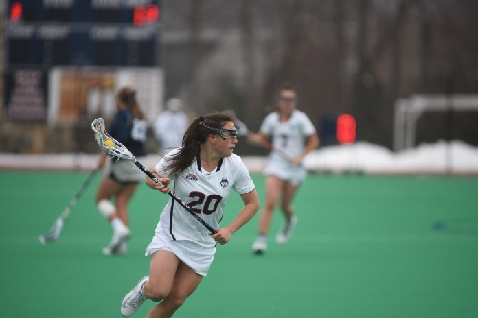 The Women's Lacrosse team loses to the Georgetown Hoyas 14-6 on March 25, 2017 bringing their record to 3-6. Their next game is away against Denver. (Charlotte Lao/ The Daily Campus)