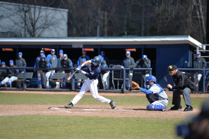 UConn defeated Memphis, 10-7, at J.O. Christian Field on Saturday, April 8, 2017. The Huskies swept the series following a win over Memphis on Sunday. (Amar Batra/The Daily Campus)